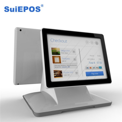 Android 12 inch dual screen touch POS all in one pc